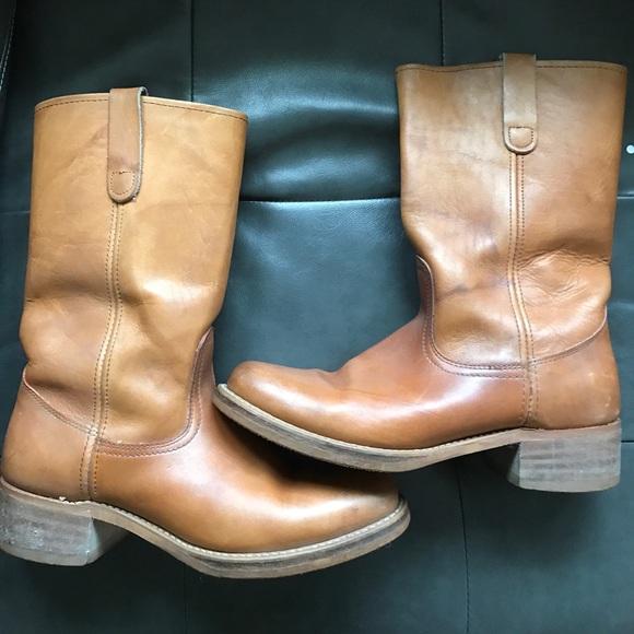 bd0b1678aa8 Vintage Sears Tan Mens Boots Size 10
